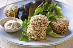 Sunflower Seed Falafel Balls with Tahini Dipping Sauce - WellBeing Magazine | WellBeing.com.au