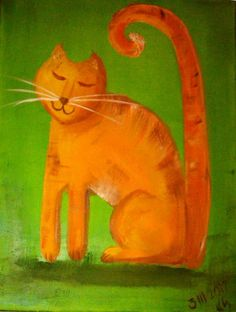 cause everyone loves cats!!! K.Slysz, oil on canvas