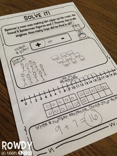 Addition and Subtraction story problem pages- several different strategies!