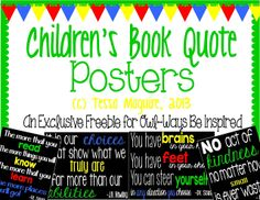 Posters with children's book quotes {freebie}