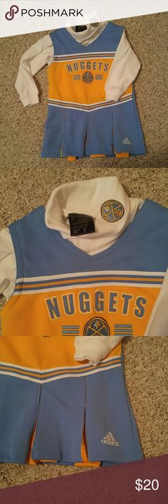 Little girls Denver nuggets dress If your a nuggets fan this is so sweet for your little fan!  Size 2 and in excellent condition, gold, blu and white with the white turtleneck and nuggets logo. Bundle to save 15% adidas Other