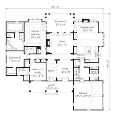 Great new plan, one level with 3 bedrooms and 3 1/2 baths! Canebrake, plan #1851