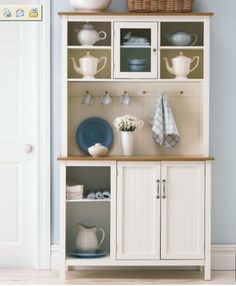 Modern Kitchen Hutch love this kitchen hutch,thinking if a roll top secretary desk