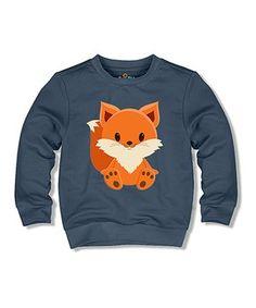 Navy Fox Sweatshirt - Toddler & Kids