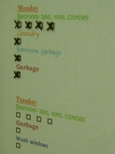 Erasable Chore Chart by Organize & Decorate Everything