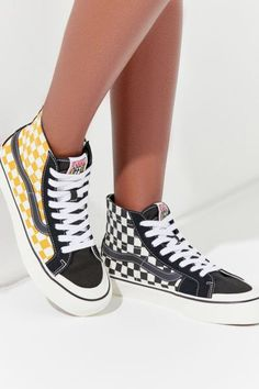 3711df8a3828 Check out Vans Sk8-Hi 138 Decon SF Surf Check Sneaker from Urban Outfitters  Surf