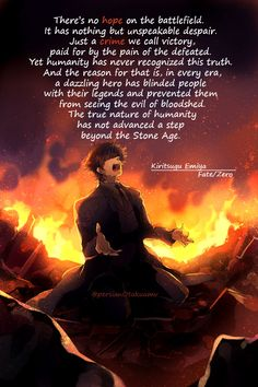 To some extent, i agree with Kiritsugu in this matter.