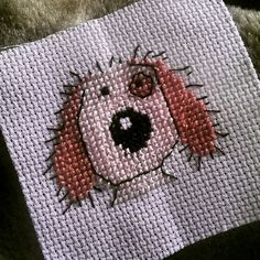 Cuddly dog cross stitch