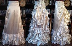 Long Victorian Tie Bustle Skirt by RetroscopeFashions on Etsy
