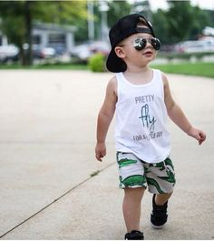 Pretty Fly for a Little Guy kids tank -  Little Beans Clothing @littlebeans_co Hipster baby, hipster kids, fashion kids, mini rodini