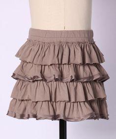 ruffle skirt--downeast