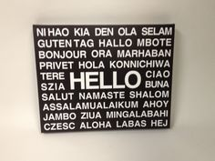HELLO Languages STRETCHED CANVAS  Multiple by DandWElements, $40.00