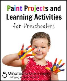 Perfect for summer time with preschoolers... Paint Projects and Learning Activities