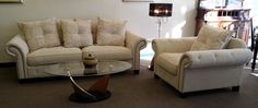 $1298.00 for this overstuffed sofa and chair and a half! New from The World Market - Home Elegance display unit.