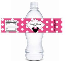 Minnie Mouse Water Bottle Label 2