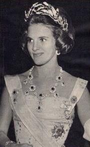 an early image of anne marie in the ruby parure