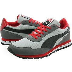 Puma Kabo Runner Steel  Black Gray Red 6340634152e