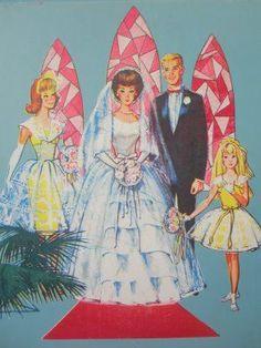 La boda muñecas de papel