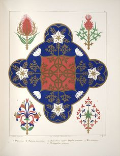 Floriated ornament, a series of thirty-one designs, 1849 - Augustus Welby Northmore Pugin a by peacay, via Flickr