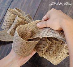 Tidbits&Twine How to Make a Bow Step 8