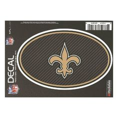 New Orleans Saints Oval Repositionable Decal - Carbon