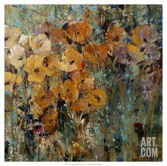 Amber Poppy Field II Art Print by Tim O'toole at Art.com
