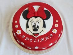 Dorty od Majky - Fotoalbum - Dětské dorty - Mickey a Minnie - 22.06.2013 012 Minnie Cake, Frozen Cake, Birthday Cake, Sugar, Cookies, Disney, Cakes, Photograph Album, Crack Crackers