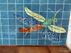 Lisbon's metro stations are an underground art gallery - by Julie Dawn Fox in Portugal 10.10.2013   Lisbon's metro system is more than a convenient way of getting around the city - its stations form an underground art gallery with imaginative painted azulejos (tiles) and sculptures   Photo: Dragonfly azulejo at Alvalade metro station in Lisbon
