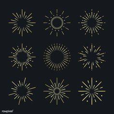 Set of firework explosion vectors by rawpixel on Background Design Vector, Retro Background, Creative Illustration, Free Illustrations, Firework Tattoo, Fireworks Design, New Year Fireworks, Vector Art, Vector Design