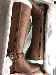 07bd0c6fbcab BRAND NEW-NEVER USED-TORY BURCH - AMANDA RIDING BOOT (Size 8.5 Almond