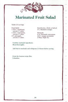 Retro Recipes, Old Recipes, Vintage Recipes, Cookbook Recipes, Raw Food Recipes, Cooking Recipes, Fruit Salad Recipes, Salad Dressing Recipes, Gelatin Recipes