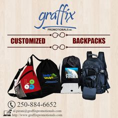Grab a piece of #customized #Backpacks from our huge #collection at the #best ever #price - Graffix Promotionals Inc.
