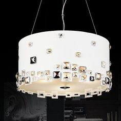 CrystalWorld Shadow 8 Light Drum Chandelier Shade Color: