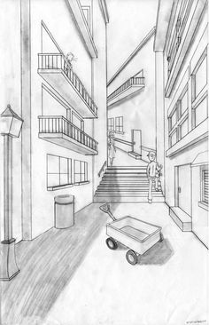 One-Point Perspective by ~animyx on deviantART