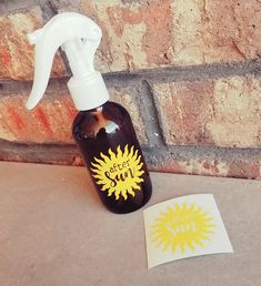 """""""After Sun"""" decal for spray bottle"""