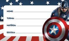 Uau! Veja o que temos para etiquetas volta as aulas capitao america 2 Do Fantasy, Captain America Wallpaper, My Folder, Agenda Planner, Quilling Paper Craft, Cars Birthday Parties, Batman Logo, Cute Phone Cases, Kayaking