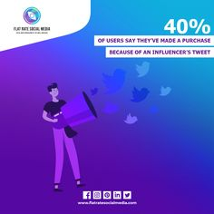 40% Of Users Say They've Made A Purchase Because Of An Influencer's Tweet! 🧐🧐 A micro-influencers shout-out to a brand's product can also spark a word-of-mouth marketing campaign, especially on Twitter. As a result, nearly 40% of people on Twitter say they've purchased as a direct result of a Tweet from an influencer. Since micro-influencers are often very knowledgeable in their industry, they can do more than just tag your brand in a picture. They can explain how your product has helped…