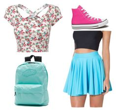 """""""Untitled #3"""" by kkaiser27 ❤ liked on Polyvore featuring Converse and Vans"""