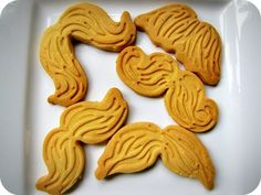 Munchstaches: Moustache Cut-Out Cookies