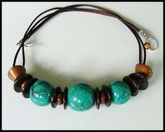 collier Turquesa en polymère