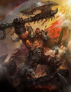 Grommash Hellscream, Hero of the Old Horde. Description from pinterest.com. I searched for this on bing.com/images