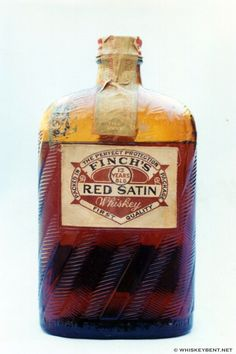 Finch's Red Satin Whiskey - 13 years old - Label is actually made of satin