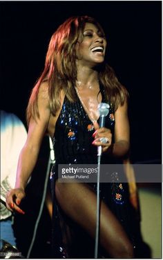 October 1975: Tina Turner performing with Ike and Tina Turner  Photos by Michael Putland
