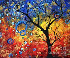 Abstract Landscape Tree Renewed Energy By Megan Duncanson