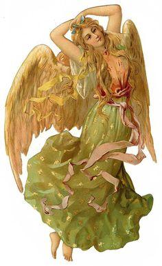 Victorian Angel Scrap