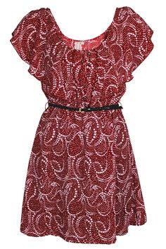 MISMASH PALU Ruffled Burgundy Dress -PRET-A-BEAUTE.COM.