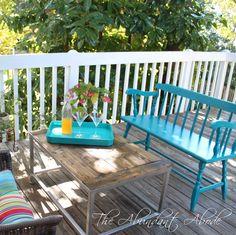 The Abundant Abode: Sunday in Suburbia: Enjoying Patio Weather - swing bench?