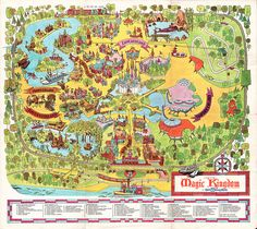 Vintage Walt Disney World poster - Magic Kingdom map.