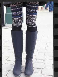 lovin the cute boots and sexy tights!! A winter must have, via Vogue Daily
