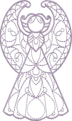 Crystal Angels - Machine Embroidery Designs at Splinters & Threads - 10 different designs